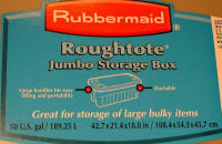 Rubbermaid label